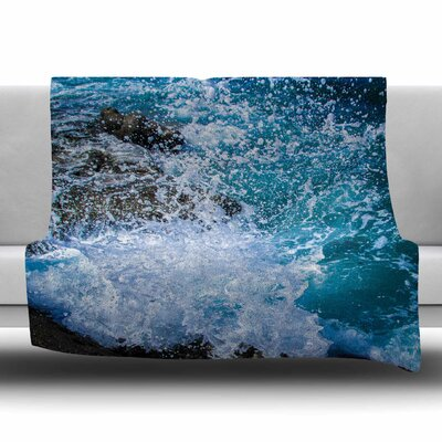 La Jolla Shores by Juan Paolo Fleece Blanket Size: 80'' L x 60'' W