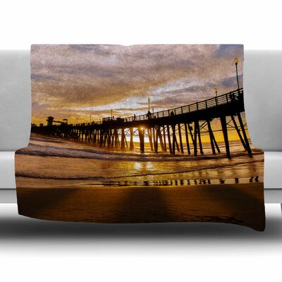 The Golden Hour by Juan Paolo Fleece Blanket Size: 80'' L x 60'' W