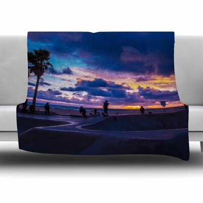 Dogtown by Juan Paolo Fleece Blanket Size: 80 L x 60 W