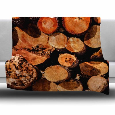 The Lumber Yard by Juan Paolo Fleece Blanket Size: 80'' L x 60'' W