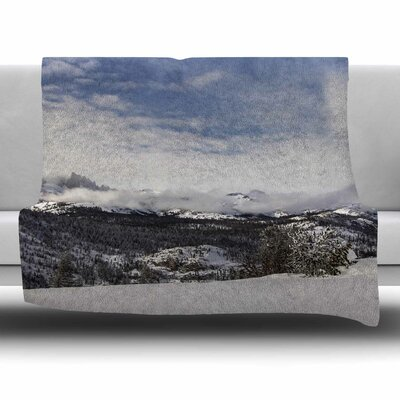 Top Of The Summit by Juan Paolo Fleece Blanket Size: 80'' L x 60'' W