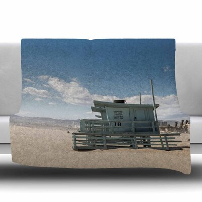 No Lifeguard On Duty by Juan Paolo Fleece Blanket Size: 80 L x 60 W