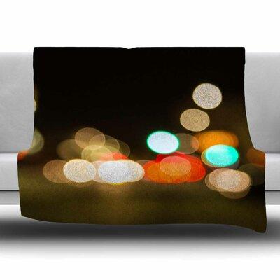 Little Tokyo by Juan Paolo Fleece Blanket Size: 80 L x 60 W