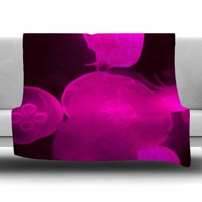 Jellyfish by Juan Paolo Fleece Blanket Size: 80 L x 60 W