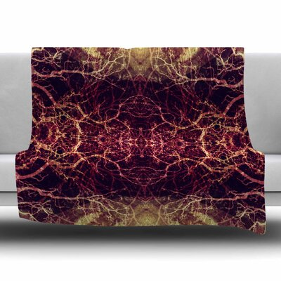 Burning Roots I+VIII by Pia Schneider Fleece Blanket Size: 80 L x 60 W