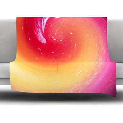 Spacewave by Infinite Spray Art Fleece Blanket Size: 80 L x 60 W