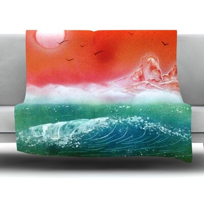 Dream Seascape by Infinite Spray Art Fleece Blanket Size: 40 L x 30 W