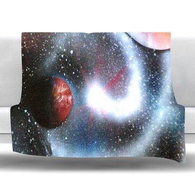 Starburst by Infinite Spray Art Fleece Blanket Size: 40 L x 30 W
