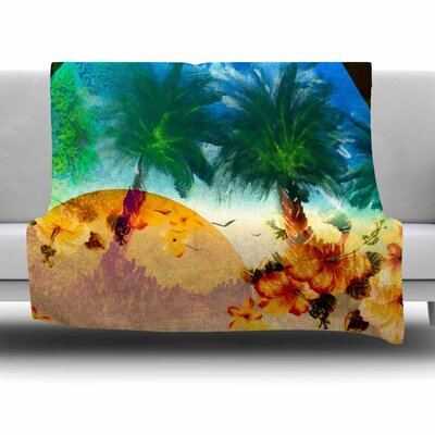 Paradise by Infinite Spray Art Fleece Blanket Size: 80 L x 60 W