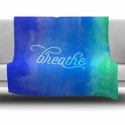 Breathe by Noonday Design Fleece Blanket Size: 80 L x 60 W