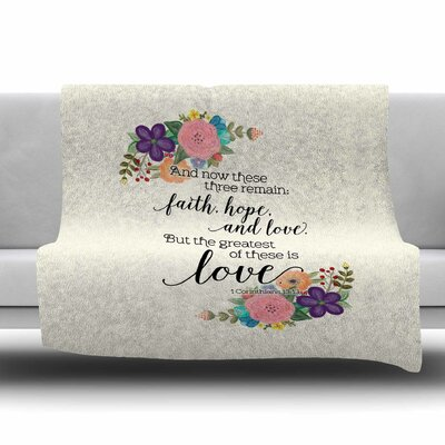 Faith by Noonday Design Fleece Blanket Size: 80 L x 60 W