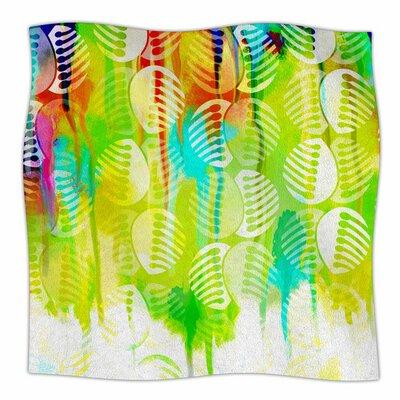 Poddy Combs - Wet Paint by Dan Sekanwagi Fleece Blanket Size: 80 L x 60 W