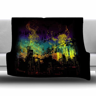 City Grid by Frederic Levy-Hadida Fleece Blanket Size: 80 L x 60 W
