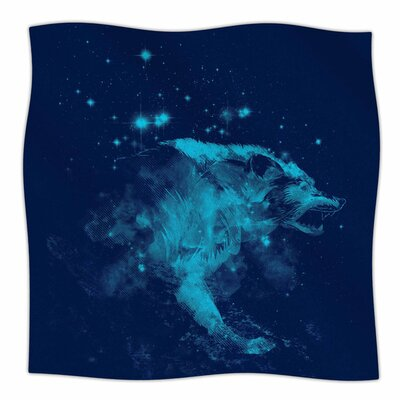 Predation Instinct II by Frederic Levy-Hadida Fleece Blanket Size: 80 L x 60 W