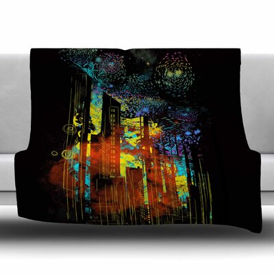 Starry City Lights by Frederic Levy-Hadida Fleece Blanket Size: 80 L x 60 W