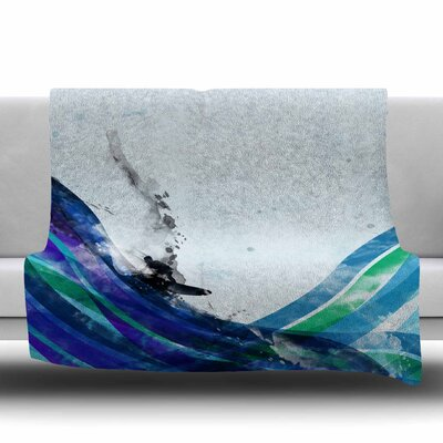 The Wave by Frederic Levy-Hadida Fleece Blanket Size: 80 L x 60 W