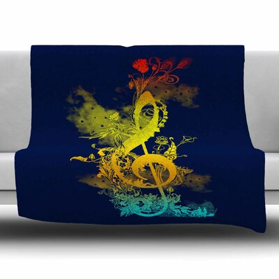 Sound of Nature by Frederic Levy-Hadida Fleece Blanket Size: 80 L x 60 W
