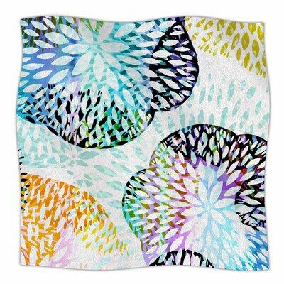 Tropical Flora by Jessica Wilde Fleece Blanket Size: 80 L x 60 W