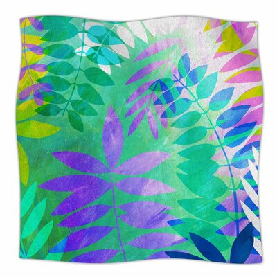 Jungle by Jessica Wilde Fleece Blanket Size: 80 L x 60 W