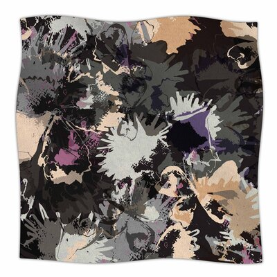 Punk Floral by Jessica Wilde Fleece Blanket Size: 80 L x 60 W