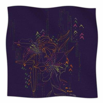 Hibiscus by Karina Edde Fleece Blanket Size: 80 L x 60 W