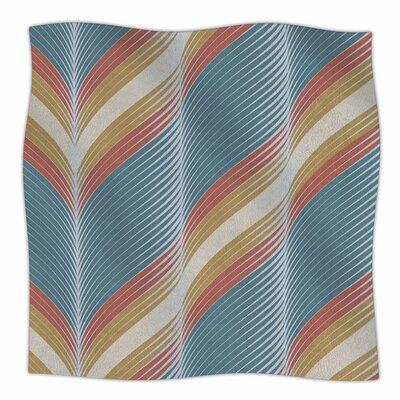 Wavy Chevron by Karina Edde Fleece Blanket Size: 80 L x 60 W