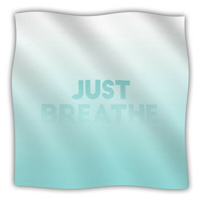 Just Breathe Fleece Blanket Size: 80 L x 60 W
