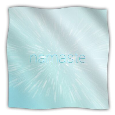 Namaste Fleece Blanket Size: 80 L x 60 W
