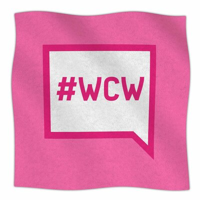 Women Crush Wednesday Fleece Blanket Size: 80 L x 60 W