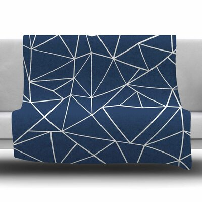 Abstraction Outline by Project M Fleece Blanket Size: 80 L x 60 W