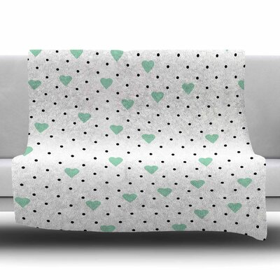 Pin Point Polka Dot by Project M Fleece Blanket Size: 80 L x 60 W