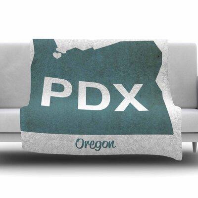 PDX by Juan Paolo Fleece Blanket Size: 80 L x 60 W