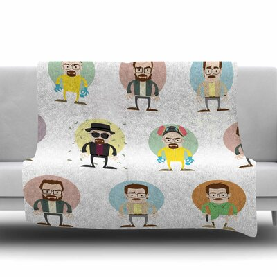 The Stages of Walter White by Juan Paolo Fleece Blanket Size: 80 L x 60 W