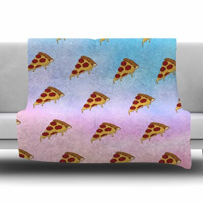Lucid Pizza by Juan Paolo Fleece Blanket Size: 80 L x 60 W