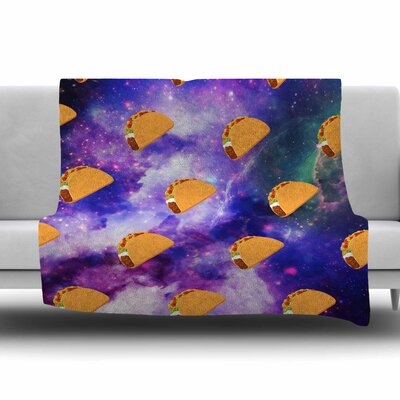 Taco Galaxy by Juan Paolo Fleece Blanket Size: 80 L x 60 W
