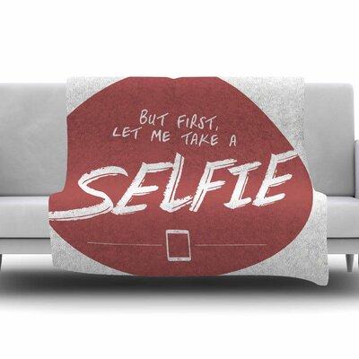 Let Me Take A Selfie by Juan Paolo Fleece Blanket Size: 80 L x 60 W