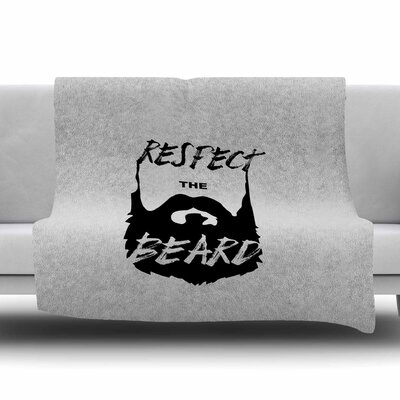 Respect the Beard by Juan Paulo Fleece Blanket Size: 80 L x 60 W