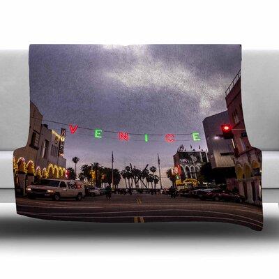 Venice Christmas by Juan Paolo Fleece Blanket Size: 80 L x 60 W