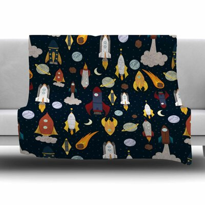 Rockets by Stephanie Vaeth Fleece Blanket Size: 80 L x 60 W