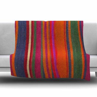 LINE ART by S. Seema Z Fleece Blanket Size: 80 L x 60 W