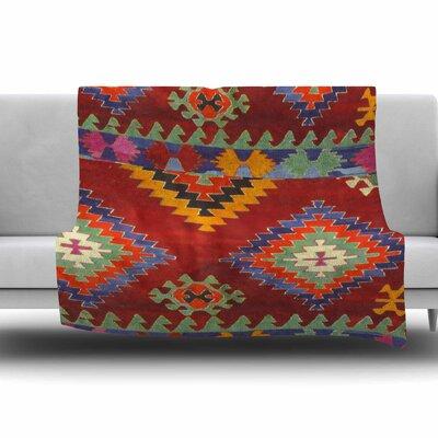 TAPESTRY ETHNIC by S. Seema Z Fleece Blanket Size: 80 L x 60 W