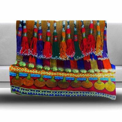 BOHO MANIA by S. Seema Z Fleece Blanket Size: 80 L x 60 W