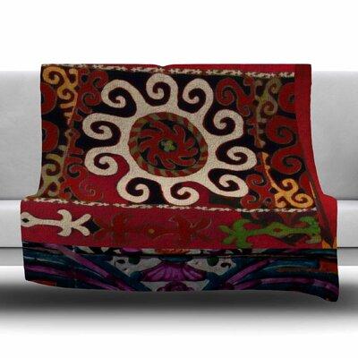 Burst of diverse by S. Seema Z Fleece Blanket Size: 80 L x 60 W