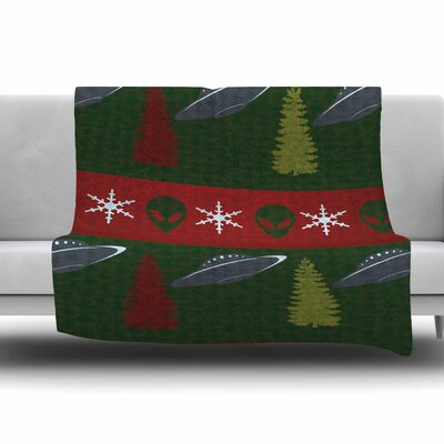 Xmas Files by Alias Fleece Blanket Size: 80 L x 60 W