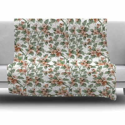 Vintage Flowers by Suzanne Carter Fleece Blanket Size: 80 L x 60 W