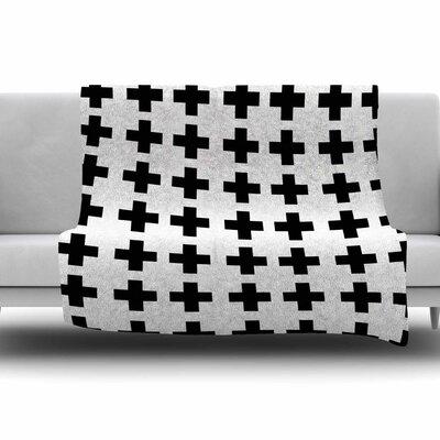 Swedish Cross by Suzanne Carter Fleece Blanket Size: 80 L x 60 W