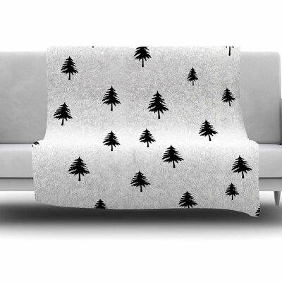 Pine Tree by Suzanne Carter Fleece Blanket Size: 80 L x 60 W