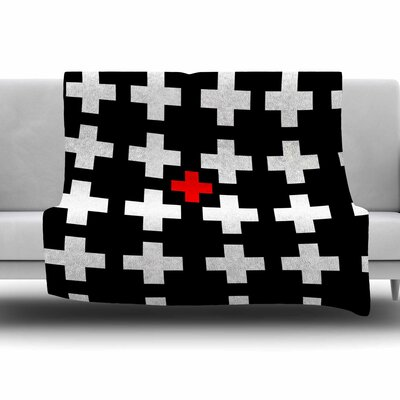 Swiss Cross by Suzanne Carter Fleece Blanket Size: 80 L x 60 W