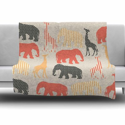 Zoo by Suzanne Carter Fleece Blanket Size: 80 L x 60 W