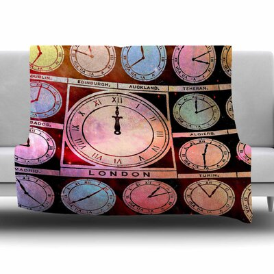 Time Space by Suzanne Carter Fleece Blanket Size: 80 L x 60 W